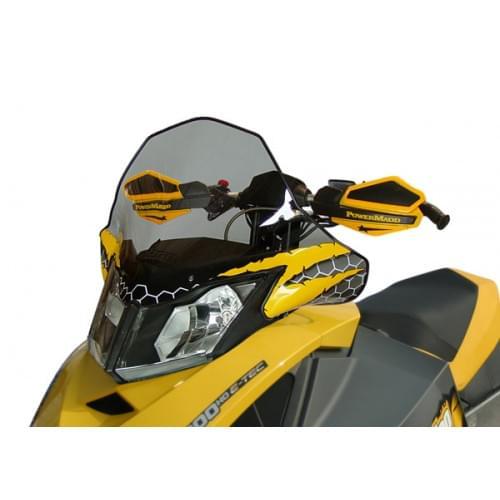 Стекло среднее POWERMADD COBRA W/S для Ski-Doo REV XP MID TINT BK/YLW S/M